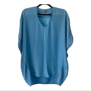 Vince Blue Silk Top